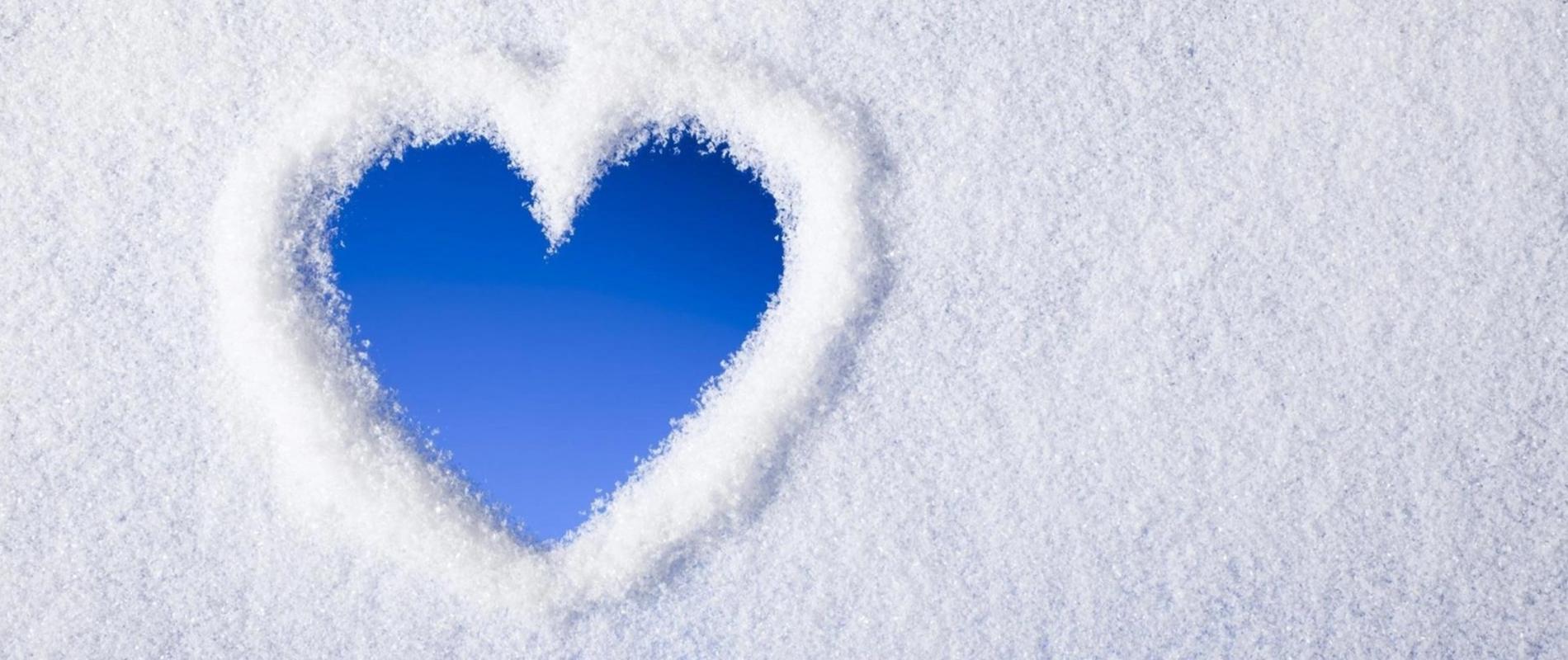 Hjärta snö